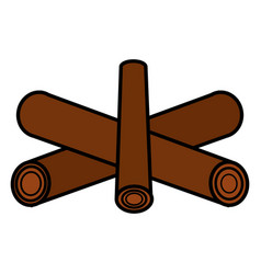 campfire off isolated icon vector image