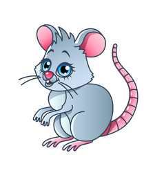 cartoon mouse isolated vector image