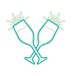 champagne glasses icon vector image