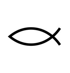Christian fish symbol jesus fish icon religious vector