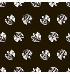cocoa seamless pattern vector image