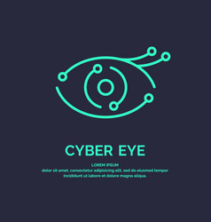 Conceptual logo and label cyber eye vector