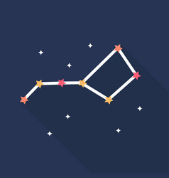 constellations icon set of great flat icons with vector image