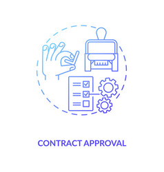 Contract approval concept icon vector