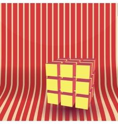 cube block 3D vector image