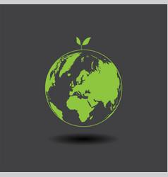 eco earth on dark grey vector image