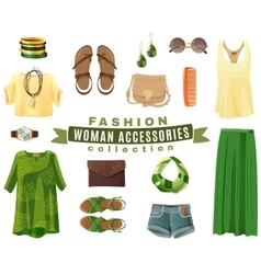 Fashion Woman Accessories Collection vector