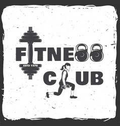 Fitness centre for fitness centers vector