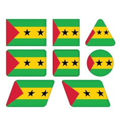 flag of Sao Tome and Principe vector image