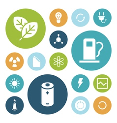 Flat design icons for energy and ecology vector image