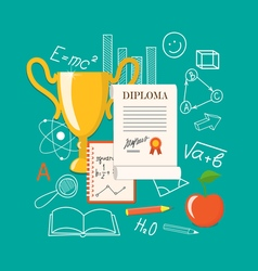 flat elements of education vector image
