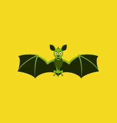 Flat on background of cute bat vector