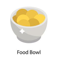 food bowl vector image