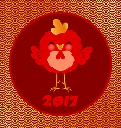 golden rooster 2017 vector image