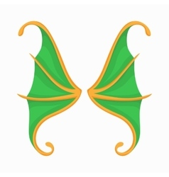Green butterfly wings icon cartoon style vector