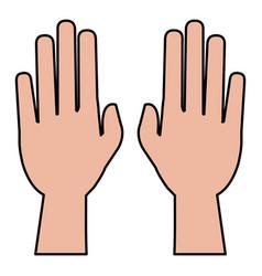hands human raised icon vector image