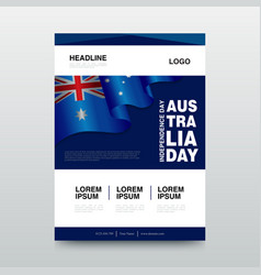 happy australia day suitable for greeting card vector image