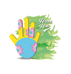 happy holi design vector image