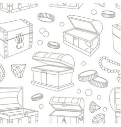 hidden treasures set pattern vector image