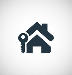 Home key icon vector