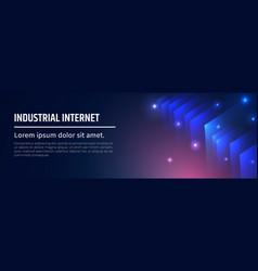 industrial internet excellent modern vector image