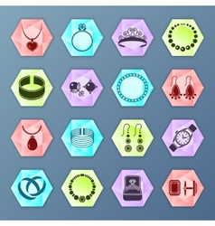 Jewelry icon hexagon vector image