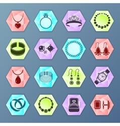 Jewelry icon hexagon vector