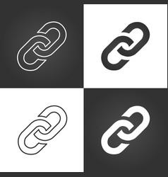 Link icon set hyperlink chain symbol simple icon vector