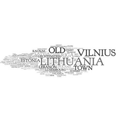 Lithuania word cloud concept vector