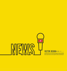 live news template vector image