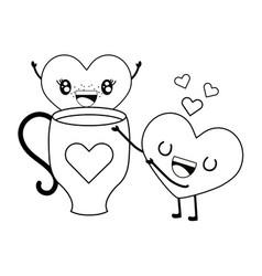 Love heart couple cartoon vector
