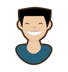 man smile character icon vector image