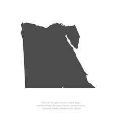 map egypt isolated black on vector image
