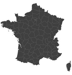 map of france split into regions vector image