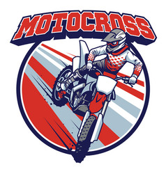 Motocross badge design vector