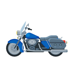 Motorcycle cruiser motor bike vehicle side view vector