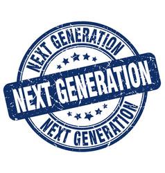 Next generation blue grunge stamp vector