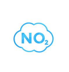 No2 icon nitrogen dioxide vector