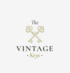 Old keys sign abstract sign symbol or vector