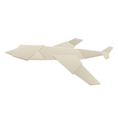 origami logistic paper plane transport concept vector image