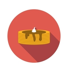 Pancake flat icon vector