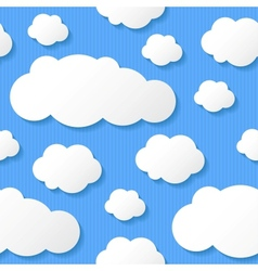 paper clouds eps 10 vector image