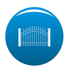Park fence icon blue vector