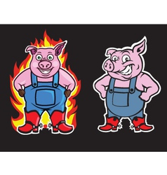 Pig Mascot vector