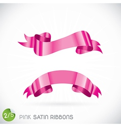 Pink Satin Ribbons vector image