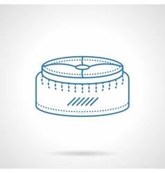 Pouf blue flat line icon vector image
