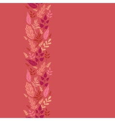 Red Leaves Vertical Seamless Pattern Background vector image