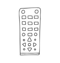 remote control doodle vector image