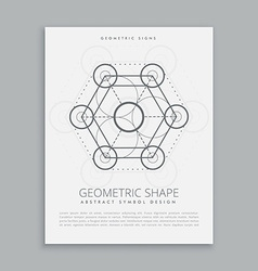 Sacred geometry sign and symbol vector