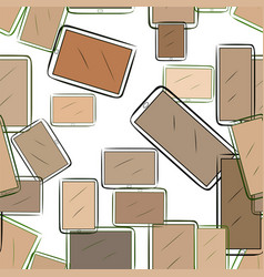 Seamless abstract hand drawn handphone or vector